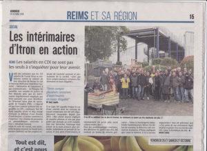 Logo Reims : les intérimaires d'Itron en action
